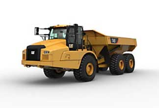 heavy machinery articulated truck