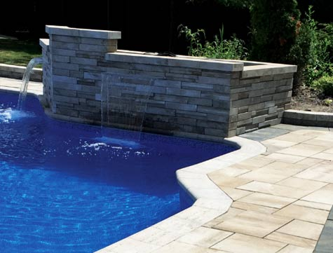 pool and fountaine earthwork